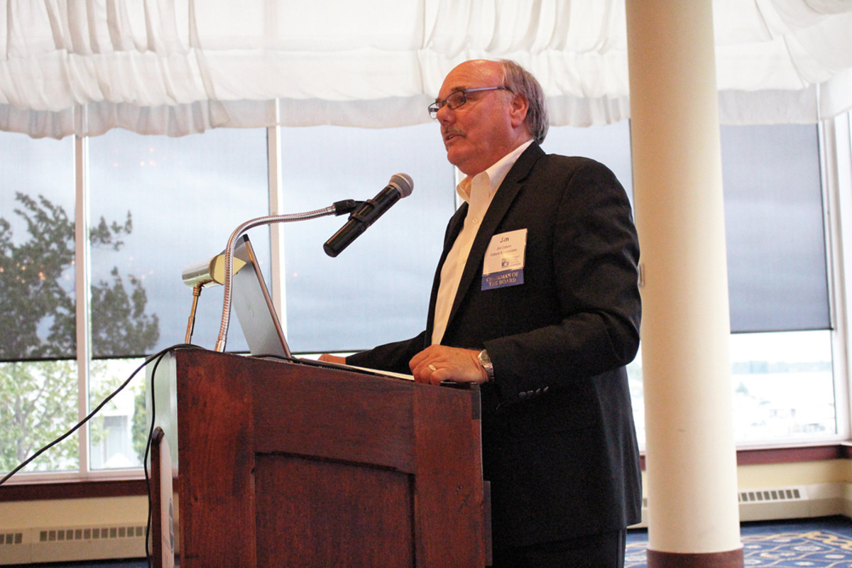Coburn addresses boating industry leaders in his home state of Michigan.