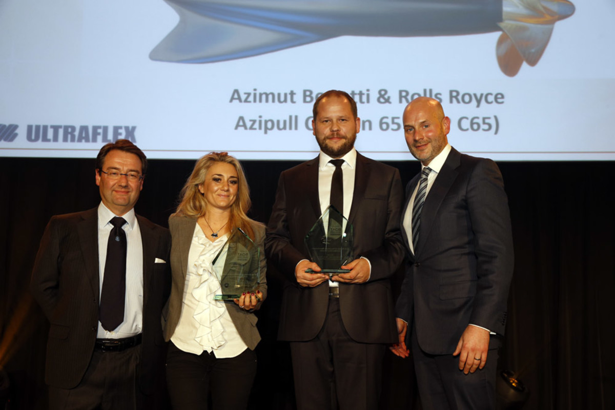 Azimut Benetti and Rolls-Royce received a Boat Builder Award for their development of the AZP C65 lightweight thruster.