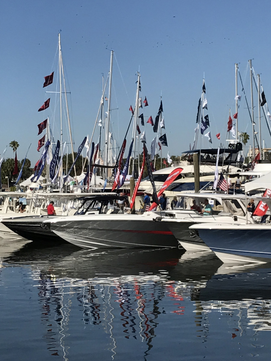 Organizers said there was an 18 percent increase from last year in the number of new boats in the water.