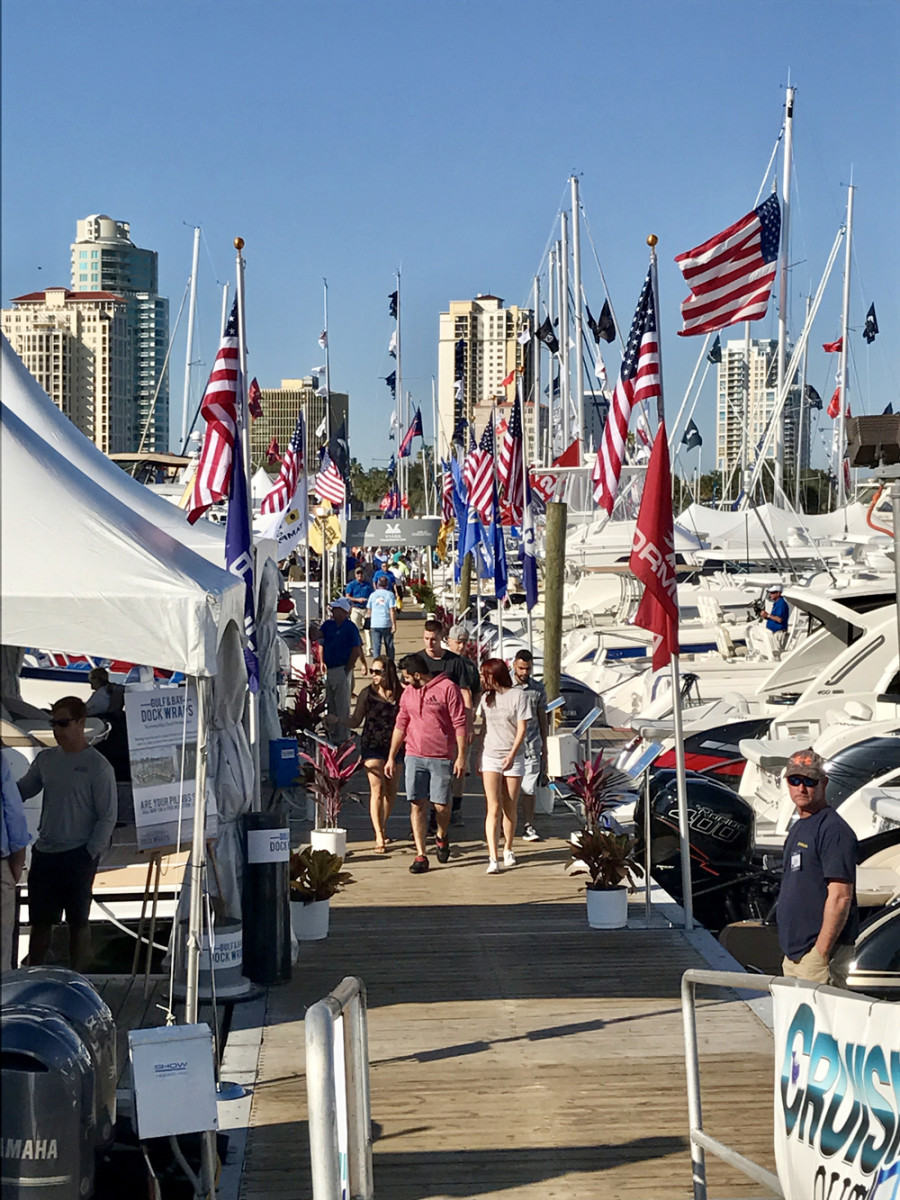 Attendance was up and there were more boats on display in the water and on land at the St. Petersburg Power & Sailboat Show this year.