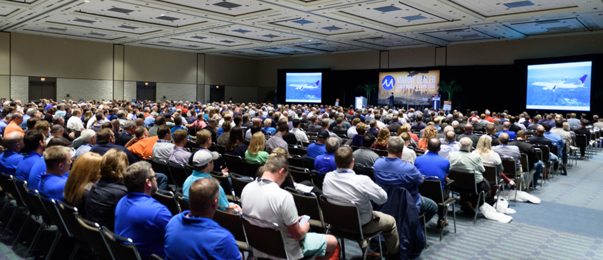 A record number of industry professionals are attending this year's Marine Dealer Conference & Expo — more than 650.