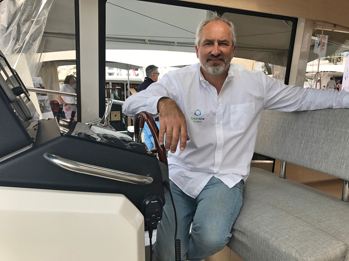 Vladimir Zinchenko, the new owner of Greenline, brought five boats to the show.