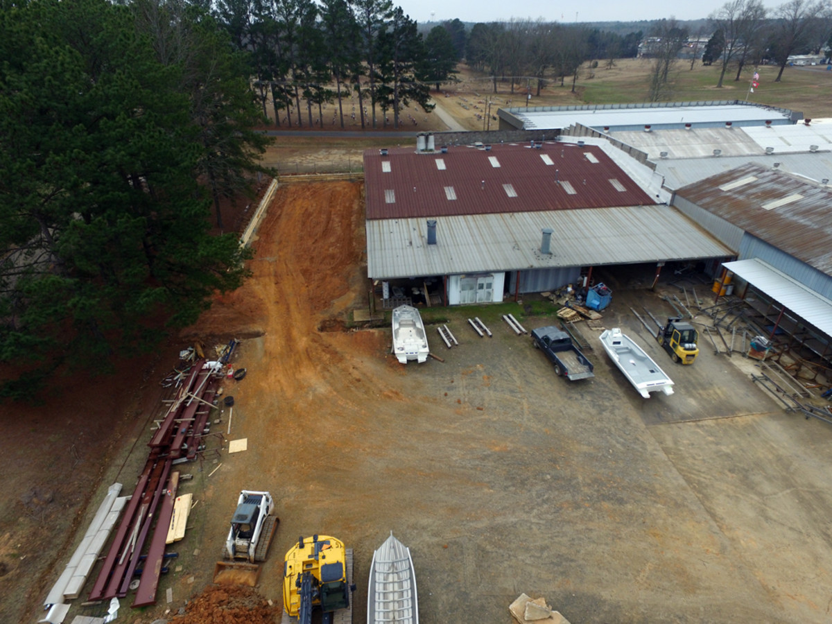 Renovations at SeaArk Boats in Arkansas include a 4,455-square-foot expansion of the paint department building.