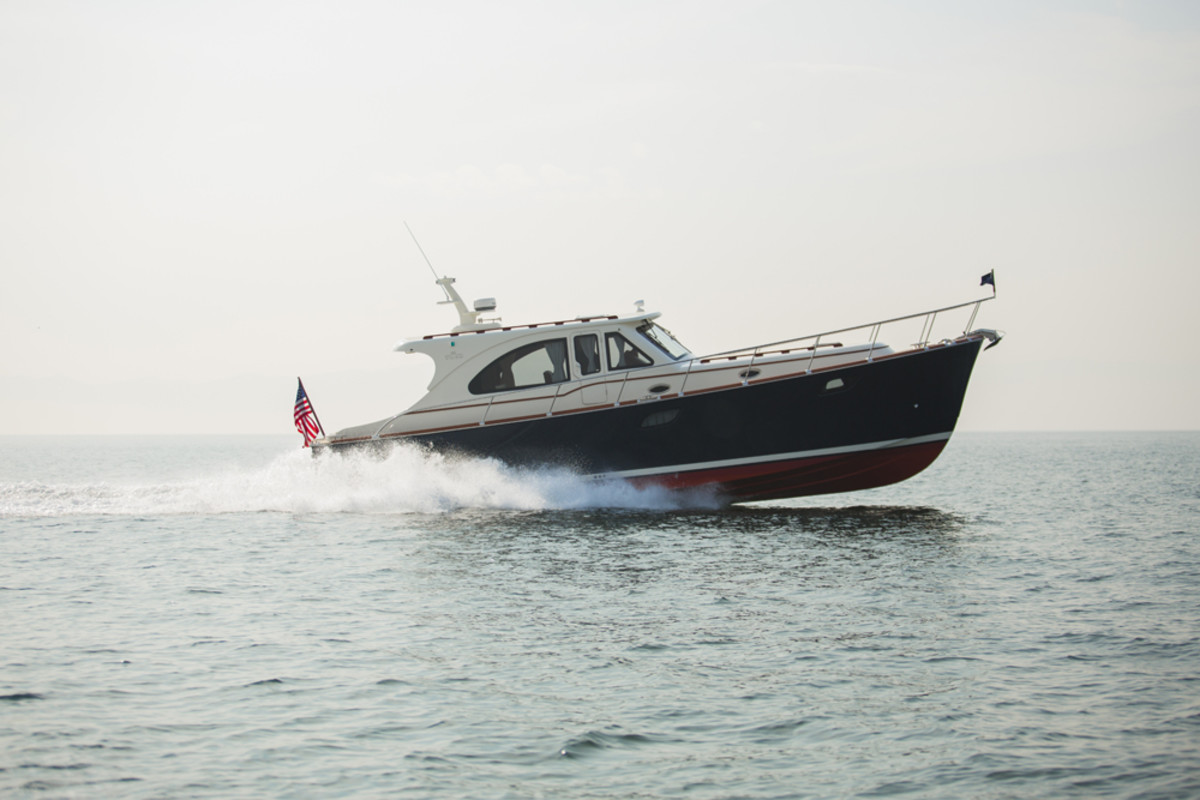 Vicem Yachts said the new Classic 46 IPS is the first model it has built in fiberglass and epozy in this size.