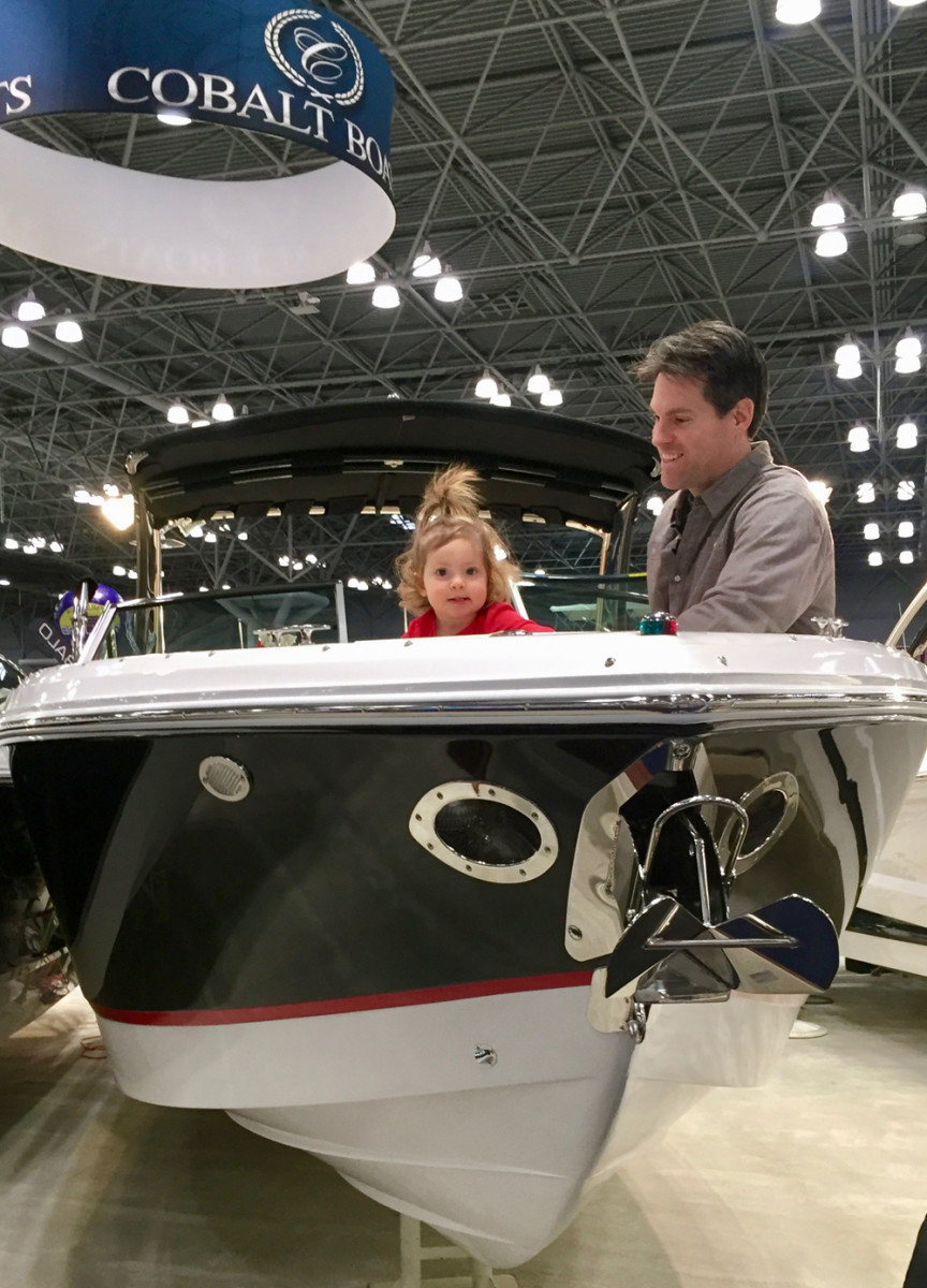 The boat show drew visitors of all ages.