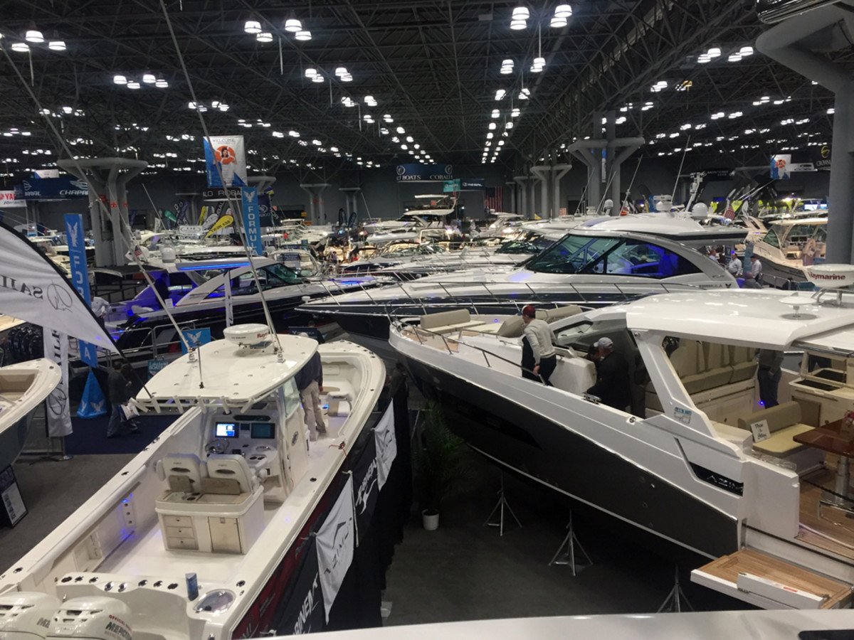 The New York Boat Show, the oldest boat show in North America, had plenty of models for visitors to see.