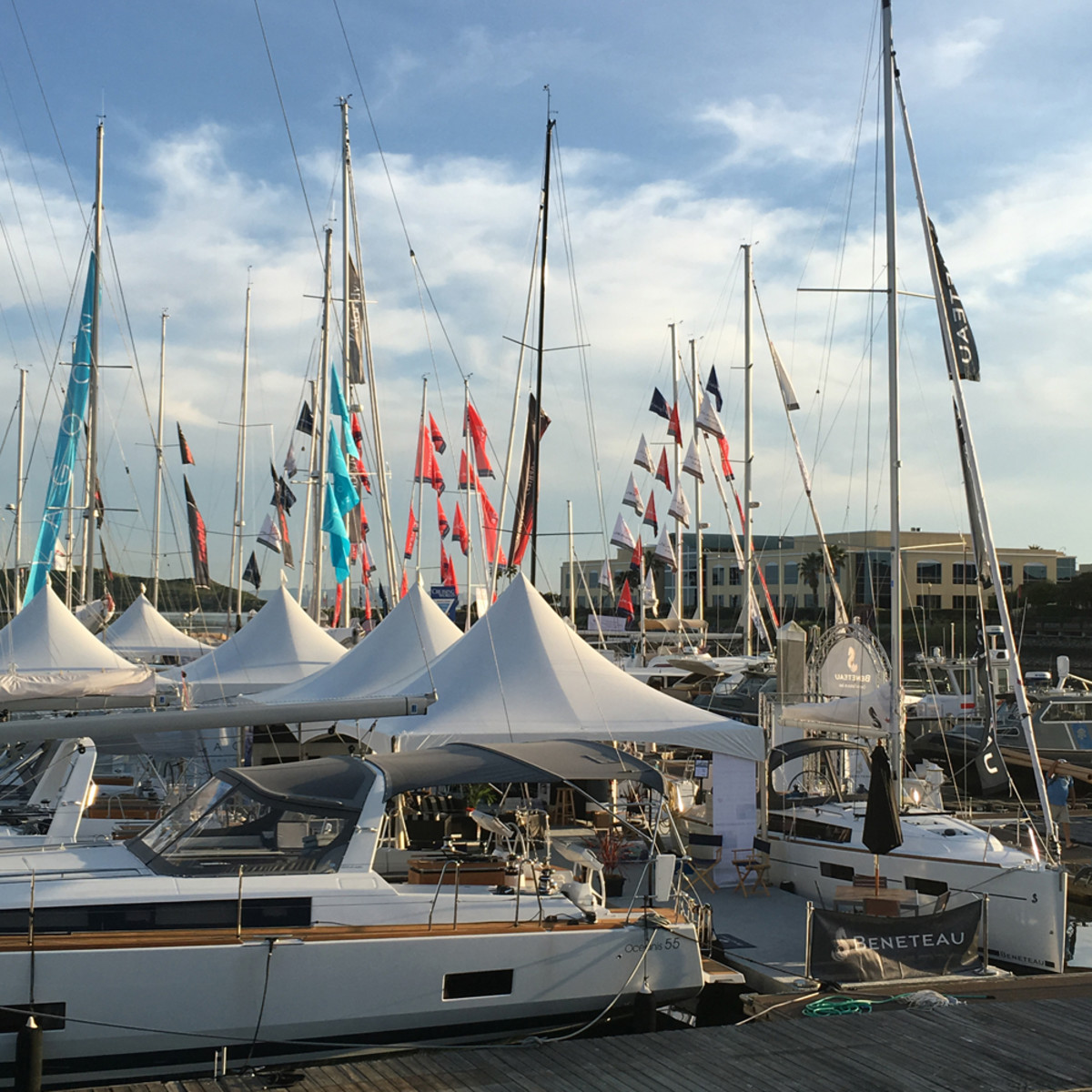 Beneteau, whose Oceanis 55 is shown, is among the builders that will have boats on display at the show.