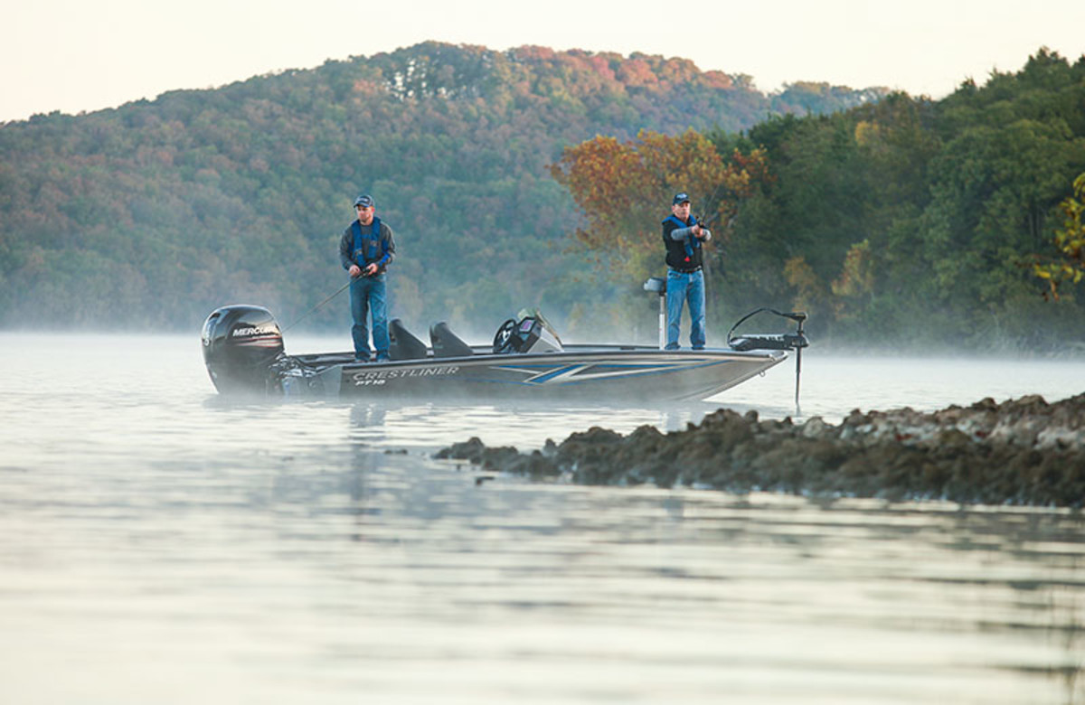 Crestliner said the PT 18's maximum 150-hp Mercury Marine engine and a 28-gallon fuel tank allow anglers to get on the fish fast.