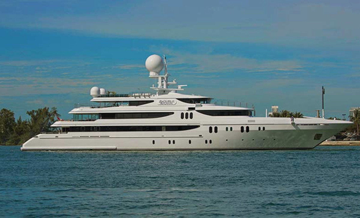 This 214-foot Codecasa will be the second-largest yacht at the Palm Beach show.