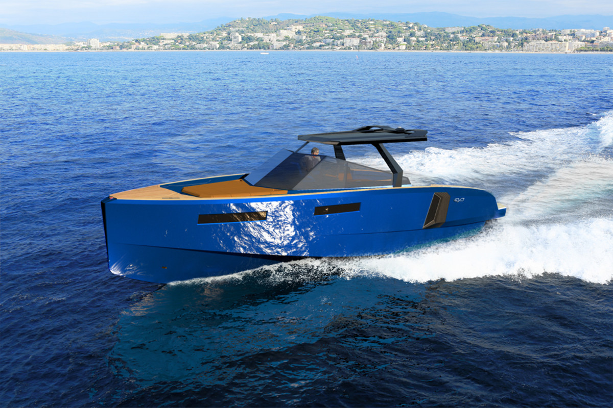 Evo Yachts said the new Evo WA is powered by Volvo Penta IPS 600 engines.