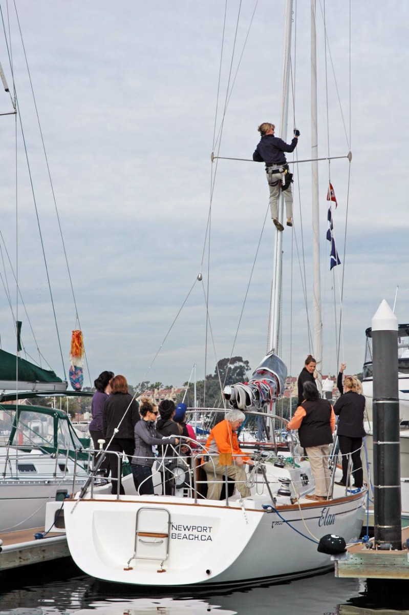 """Going Up the Mast"" is among the topics covered at the Southern California Yachting Association's Women's Sailing Convention."