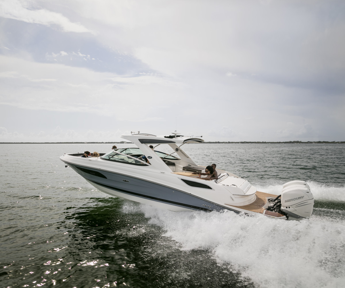 The Sea Ray 350 SLX is among the boats MarineMax will display at the St. Petersburg show in December.