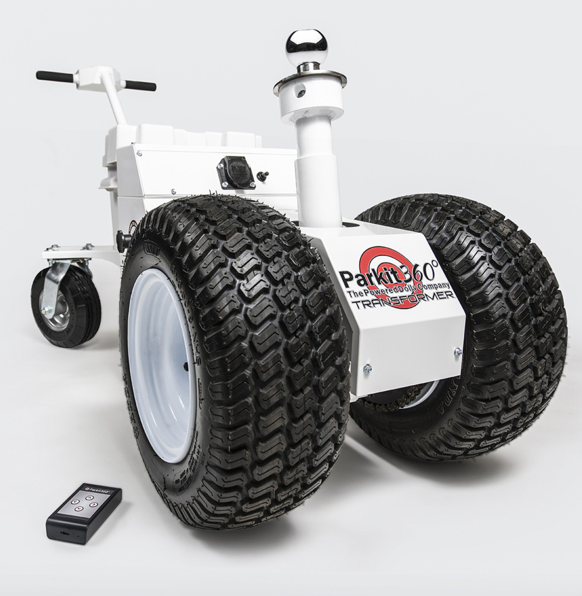 Parkit360 makes power trailer dollies that move trailers with payloads as large as 15,000 pounds within tight confines.