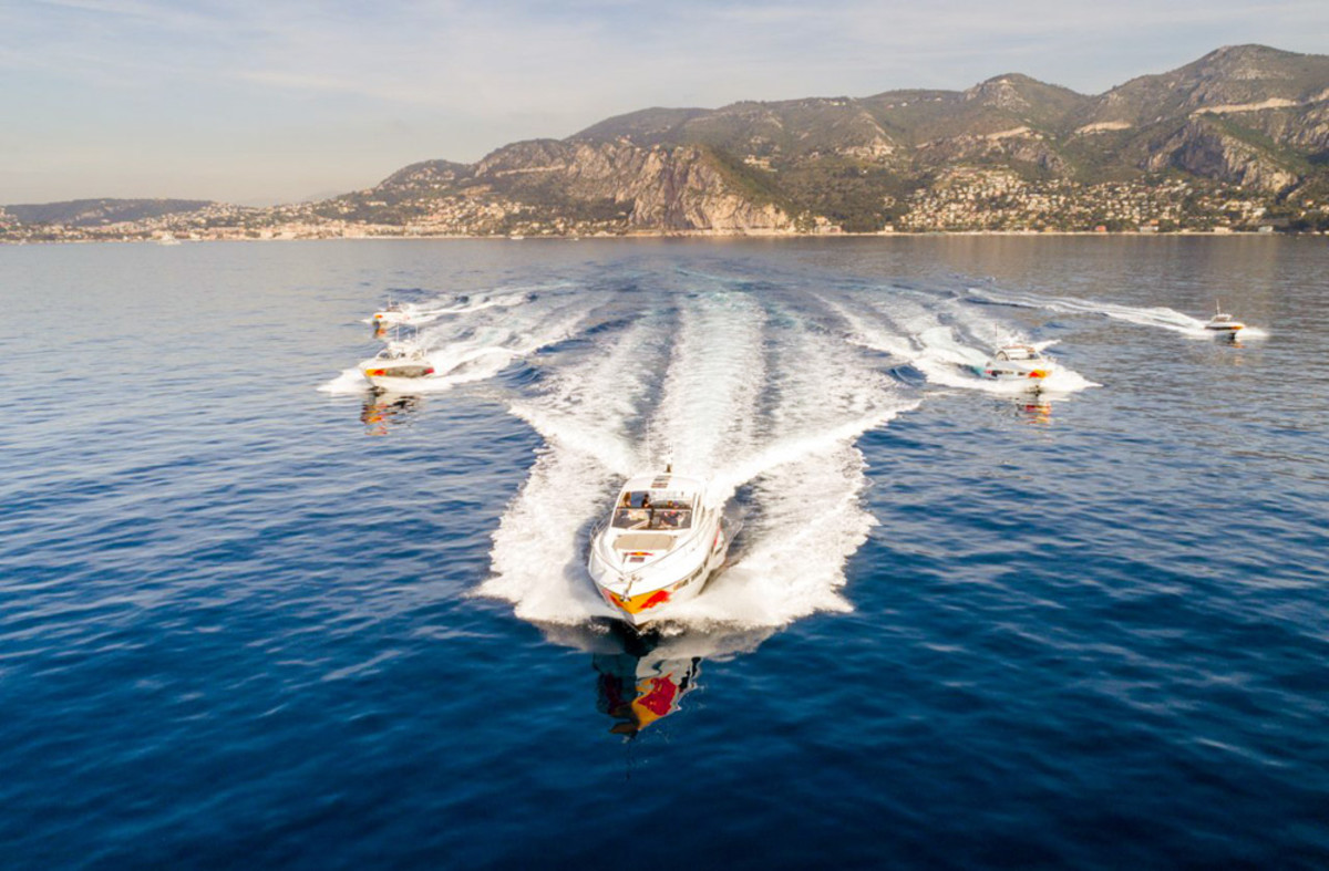 Five Sunseeker boats supported the Red Bull Racing Formula One team at the Monaco Grand Prix.
