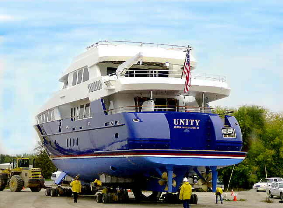 Unity is a 125-foot yacht that Palmer Johnson built in 2002-03 while Friedman was the company's president and CEO.