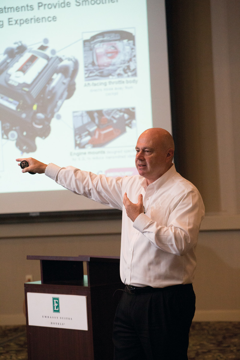 Mercury vice president of product development, engineering and racing David Foulkes explained the technological advances in the new power plant.