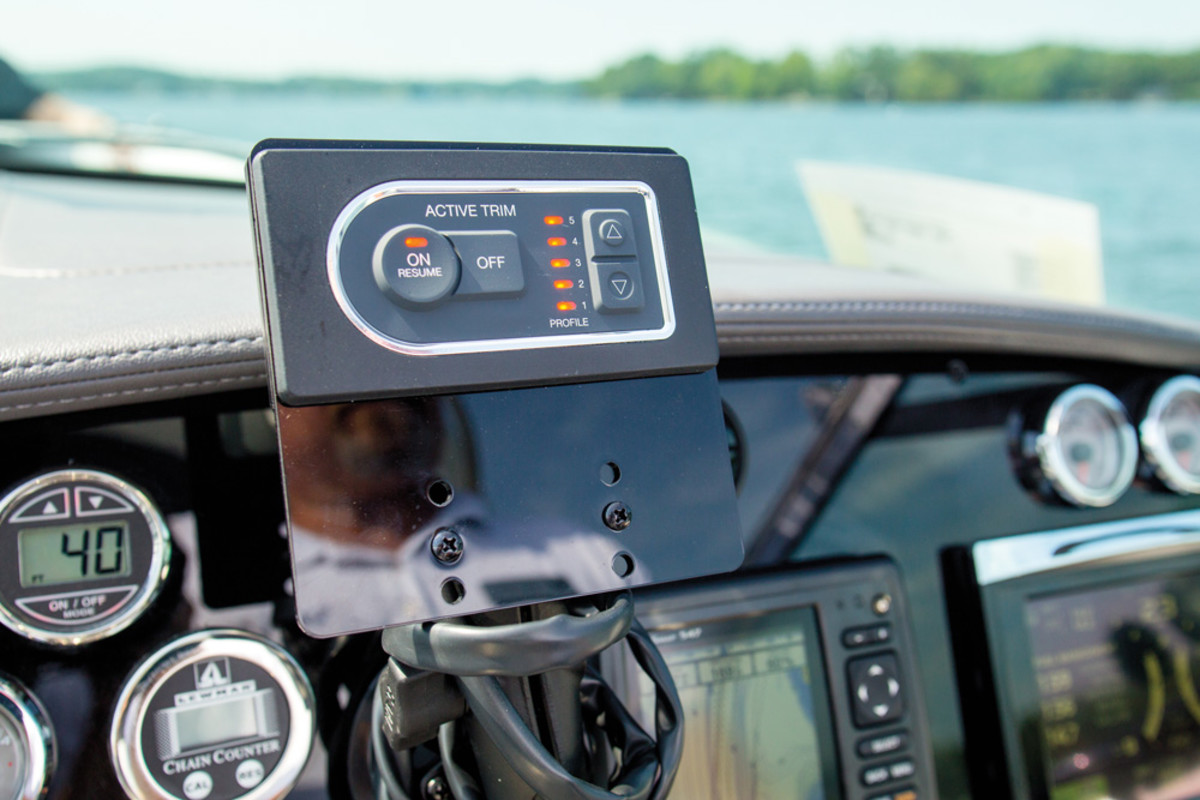 Mercury also introduced its new Active Trim system at the media event, which automatically adjusts trim based on the boat's speed.