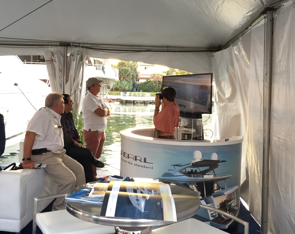 The applications of virtual reality are growing with each boat show.