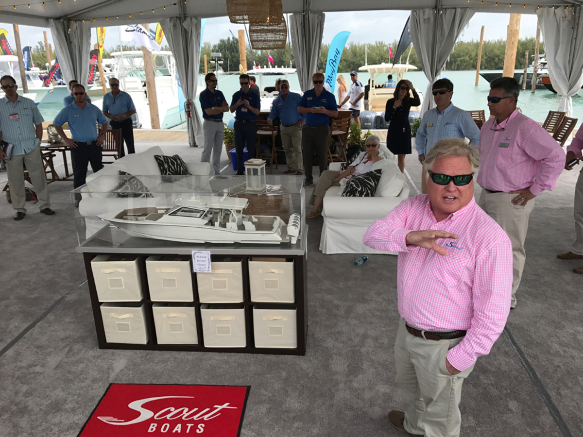 Scout Boats founder Steve Potts said the company will expand so it can build the new 53-foot center console planned for next year and another model between the 420 LXF and the 53-footer for 2018.