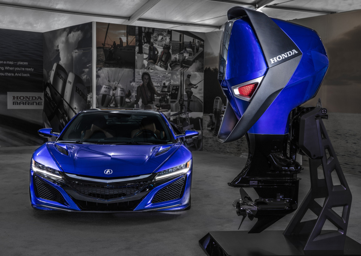 The design of the Honda concept engine was inspired by the Acura NSX Supercar.