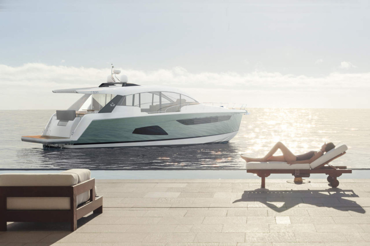 The Hanse Group said its Sealine C530 was designed with a multifunctional roof.