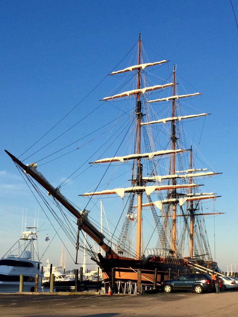 Ticketholders at the Newport show can tour the 200-foot tall ship SSV Oliver Hazard Perry.