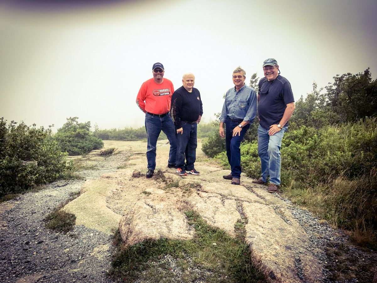 On Cadillac Mountain at Acadia National Park, there was virtually no view in sight.