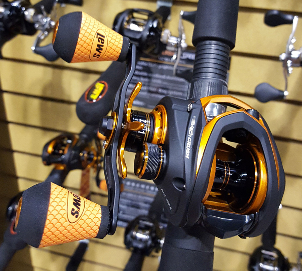 Rod-and-reel combo: Lew's Tackle made it two years in a row winning in this category with its eye-catching orange-and-black-trimmed Mach Crush rod-and-reel combo in spinning reel and casting reel configurations.