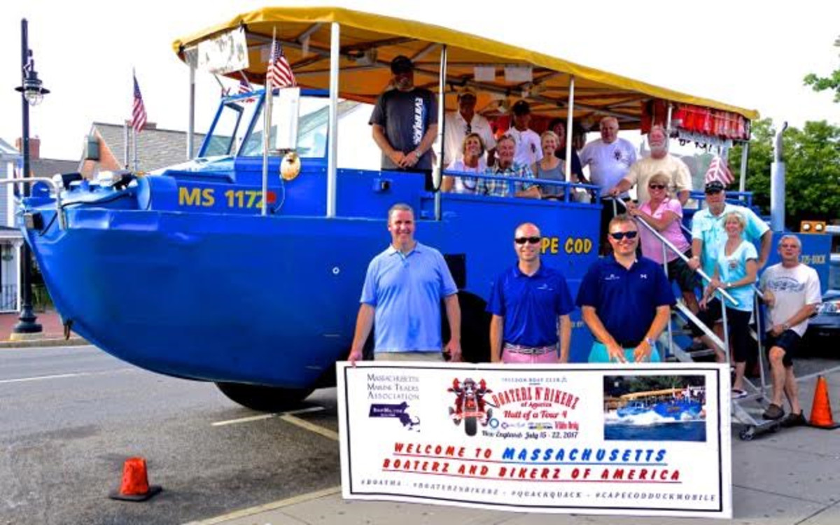 Thursday's highlight was a sponsored cruise on water and land with Cape Cod Duckmobiles.
