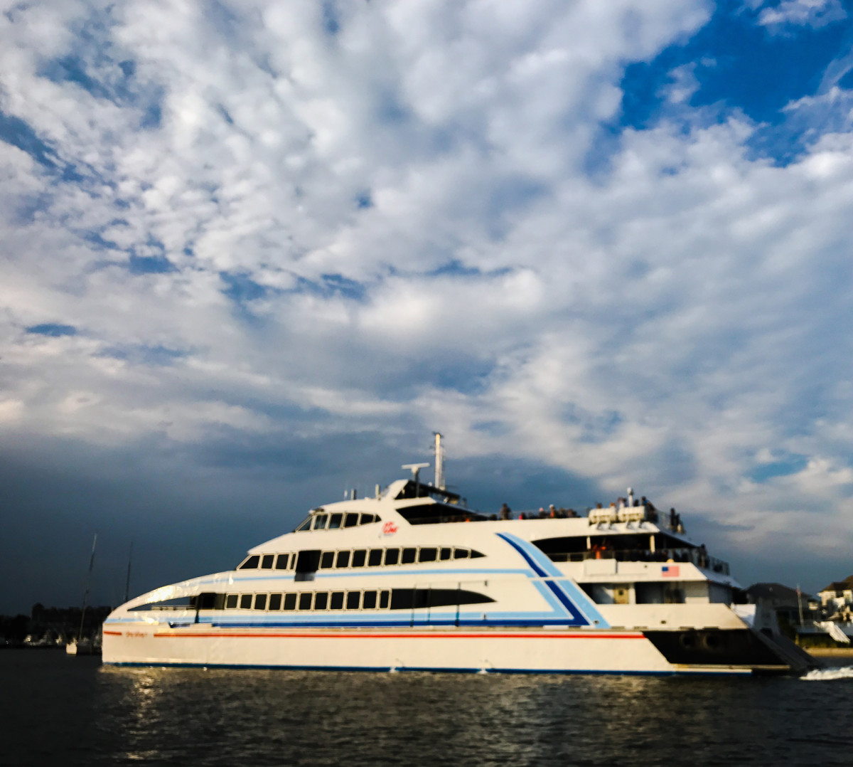 Huge ferry boats to Nantucket and Martha's Vineyard are a big hit with tourists.