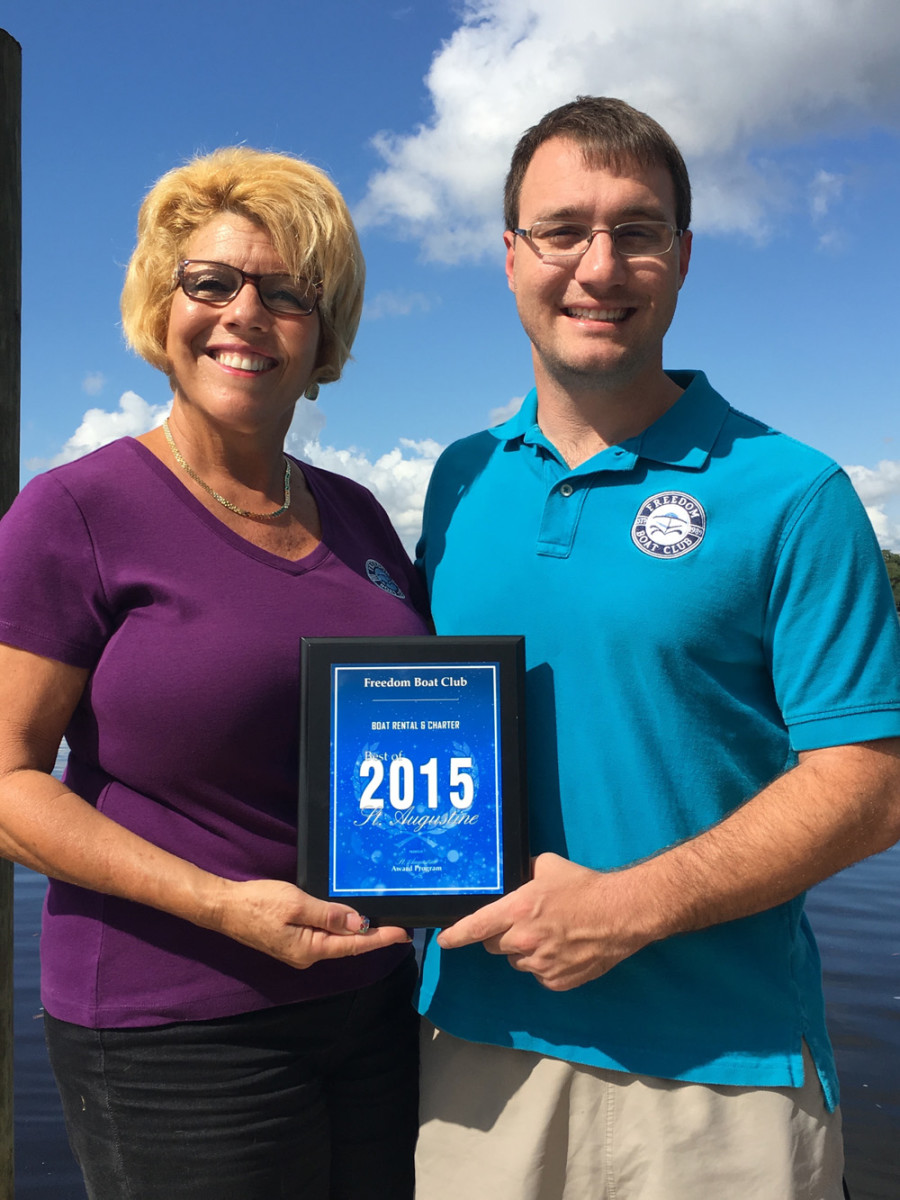 Lisa Almeida and Kevin Seelig are co-owners of Freedom Boat Club Jacksonville and St. Augustine.