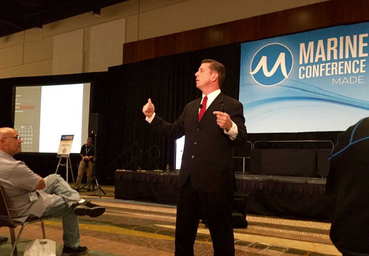 Bestselling author Steve McClatchy told the MDCE audience in Orlando Monday night that true leadership improves as well as maintains a business.