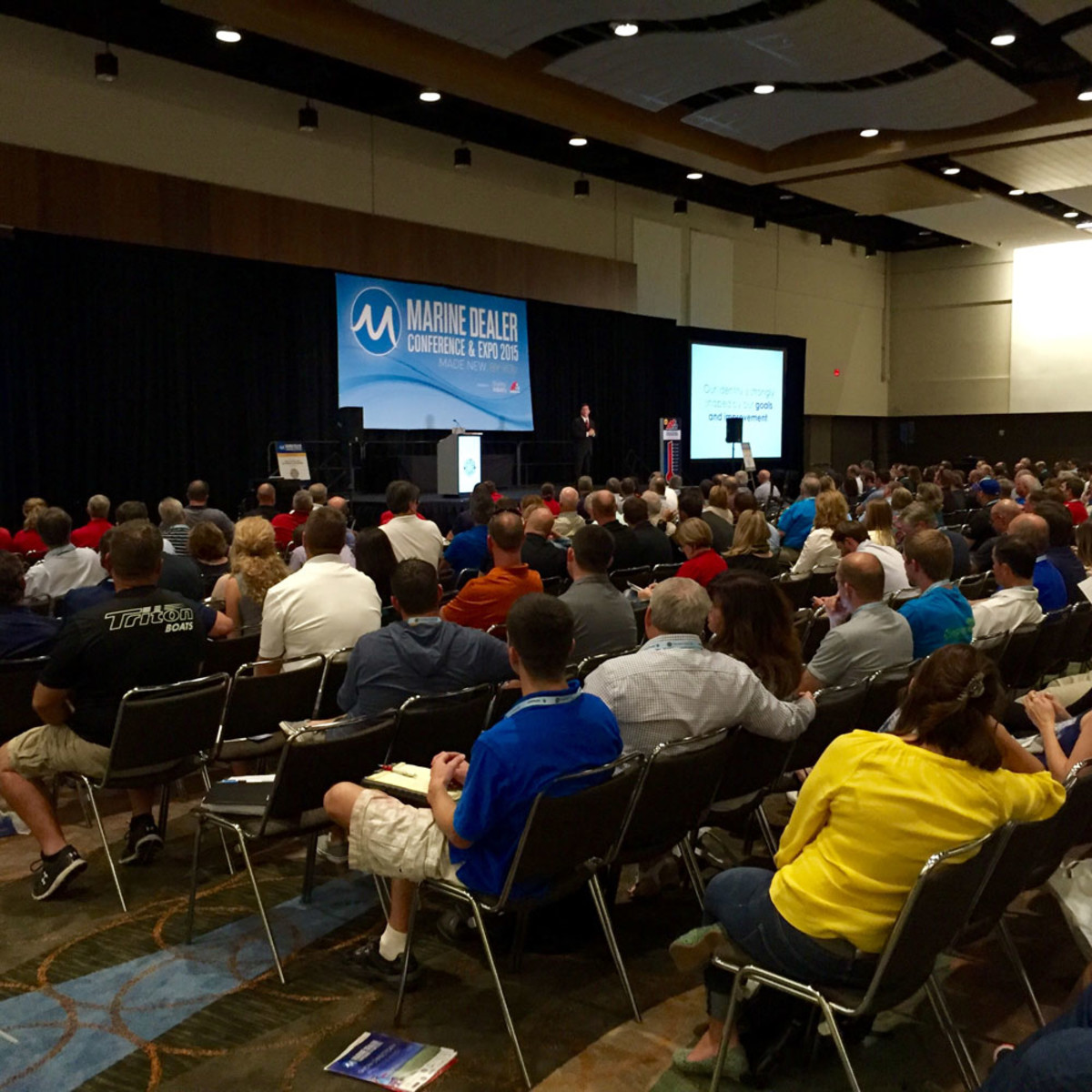 About 1,200 conferees attended McClatchy's keynote presentation.