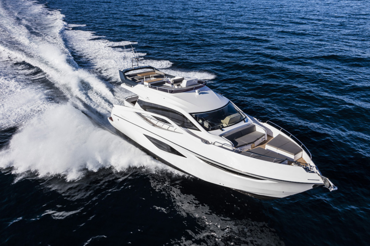 Numarine said the 62 Fly is powered by two Volvo Penta IPS 950 engines that give it a 31-knot top speed and a 26-knot cruising speed.
