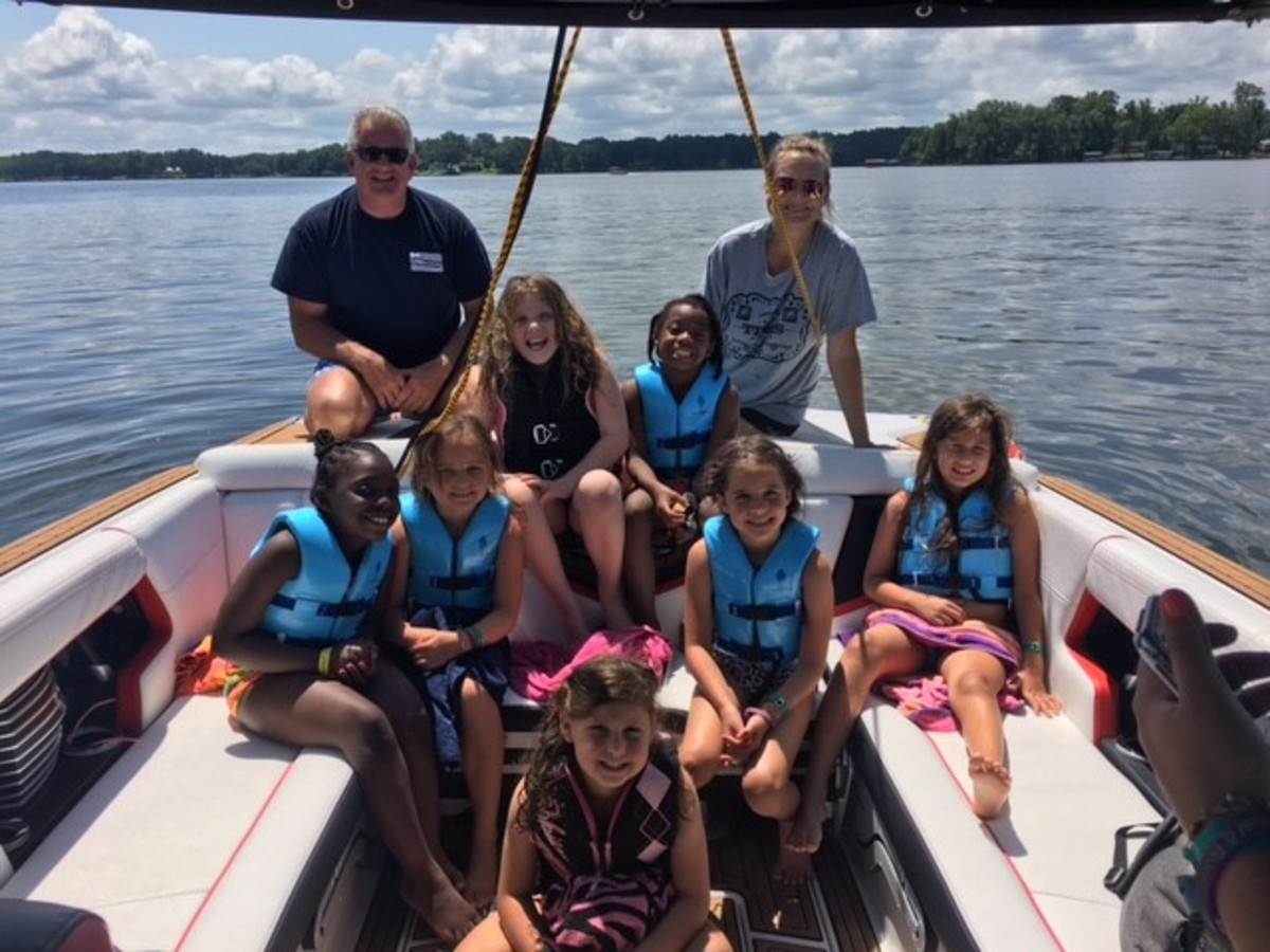Pleasurecraft Engine Group employees helped children at Camp Kemo in South Carolina enjoy a day on the water.