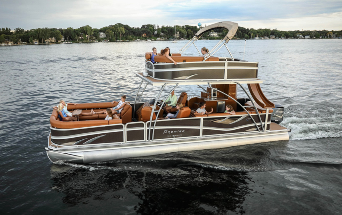 Premier Marine sells its pontoons through a network of 197 dealers in the United States and Canada.