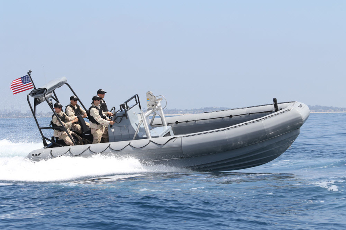 Willard Marine said its new 25-foot rigid-hull inflatable boat is designed with a deep-vee hull for maximum stability.