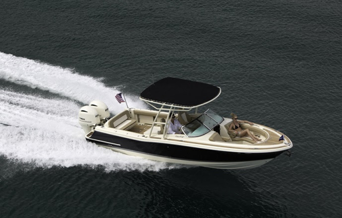 Chris-Craft will unveil a new dual console next week at the Fort Lauderdale show.