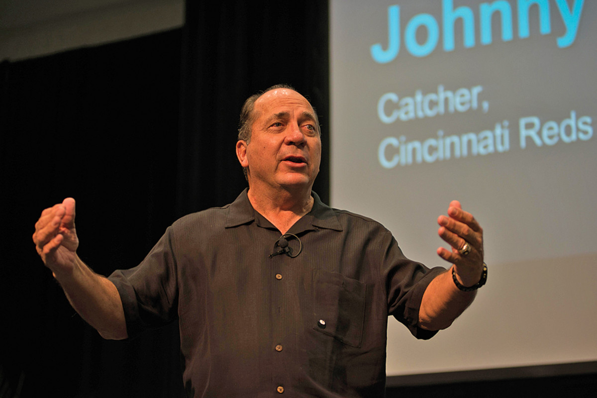 Keynote speaker and baseball Hall of Famer Johnny Bench.