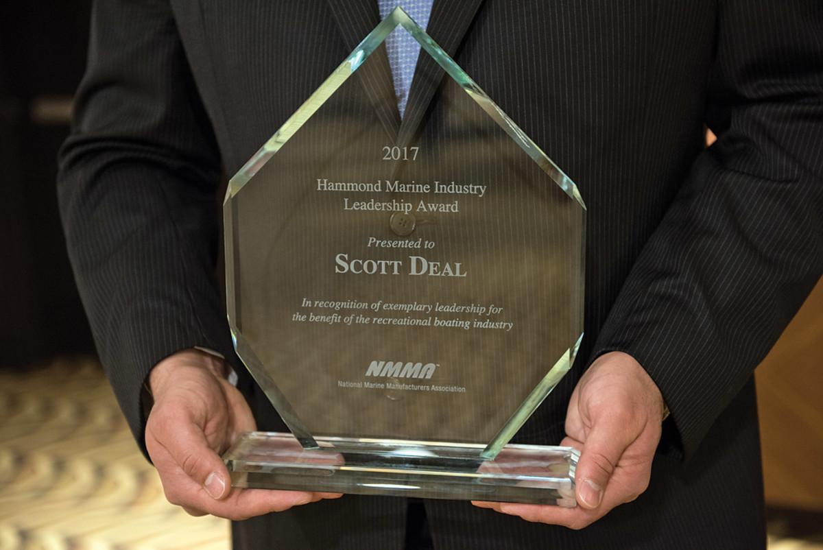 "Maverick Boats president Scott Deal was honored for his ""tireless efforts"" on behalf of saltwater fishing              regulatory reform."