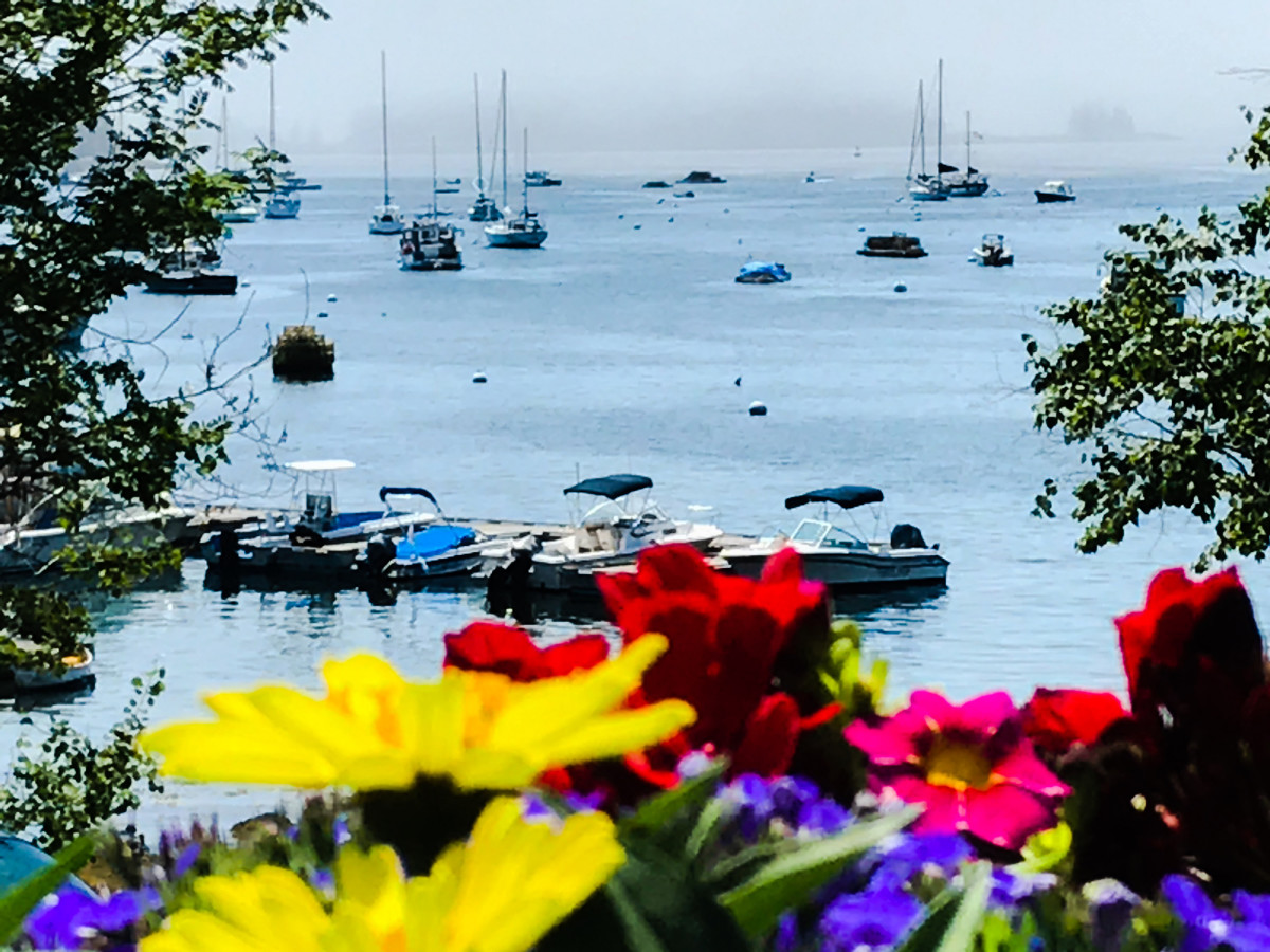 A beautiful view of Boothbay Harbor.