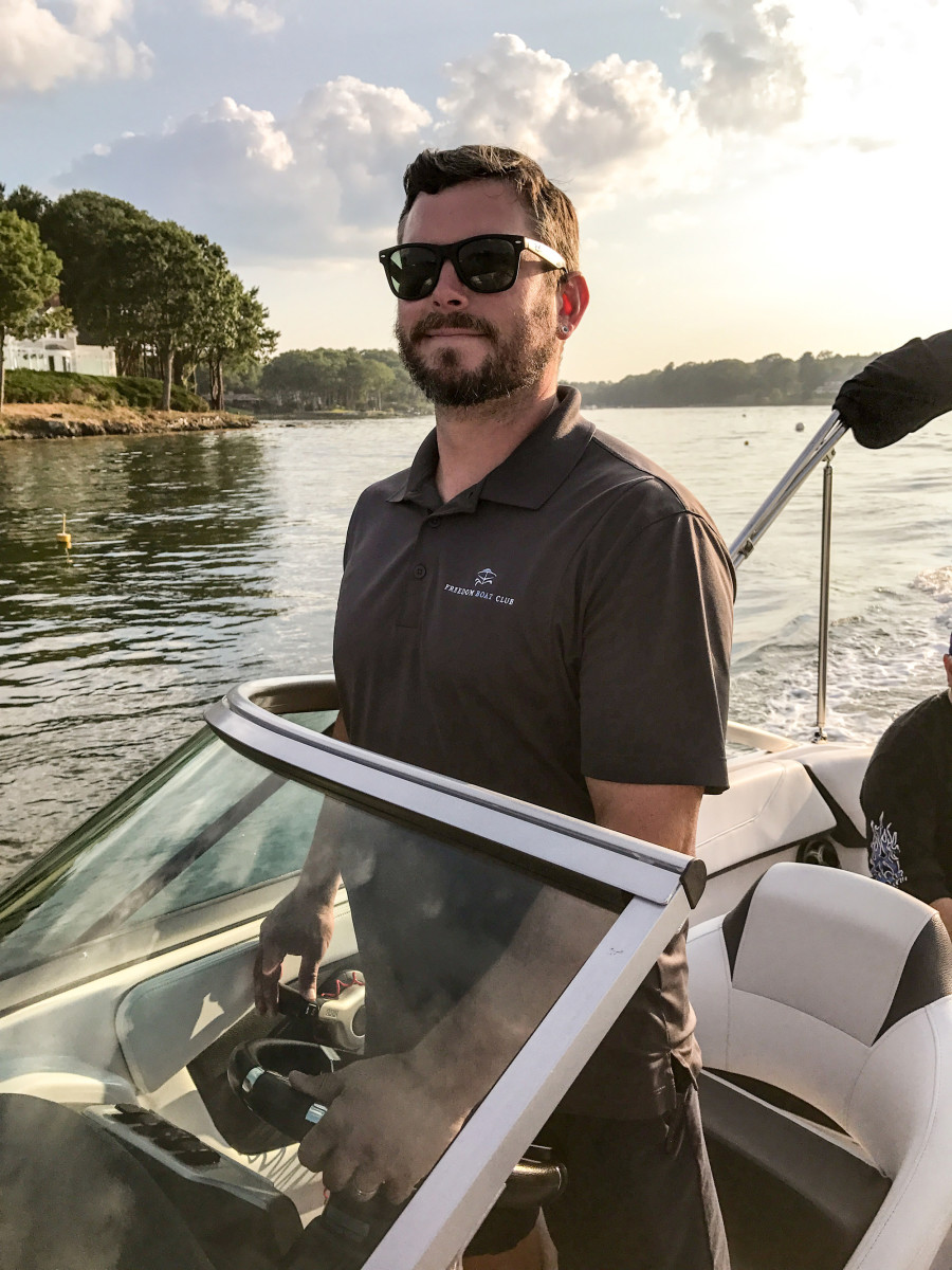 Capt. Jake Goodridge of Freedom Boat Club of Portsmouth stands at the helm of a fast-growing business.