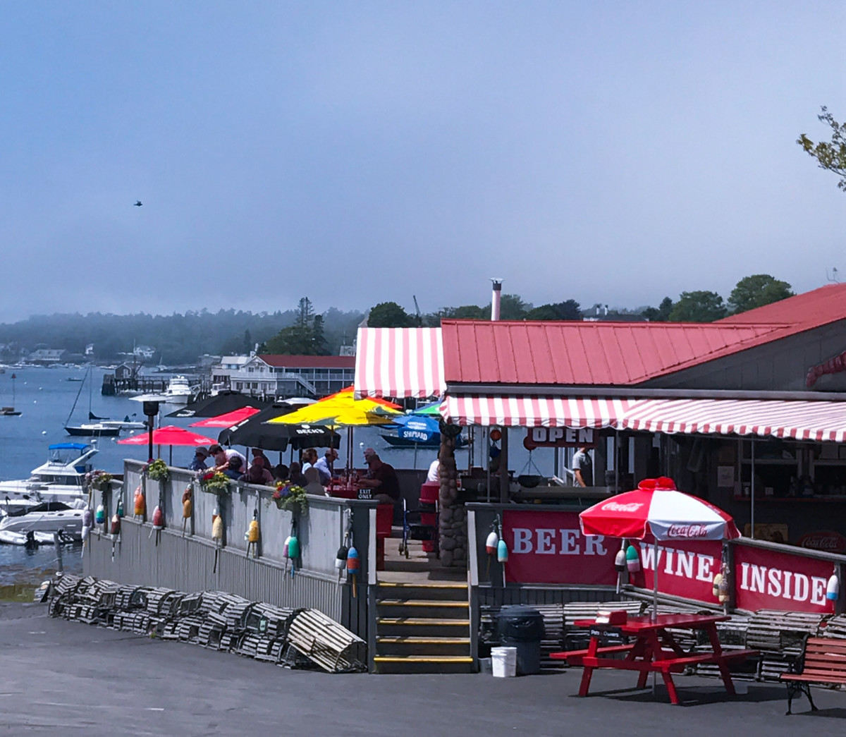 The Lobster Dock was a big hit with the hungry crew of tour riders.
