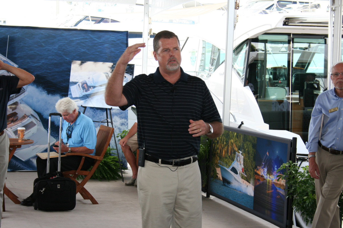 S2 Yachts CEO Leon Slikkers discussed new model introductions for the builder's Tiara and Pursuit brands on Thursday.