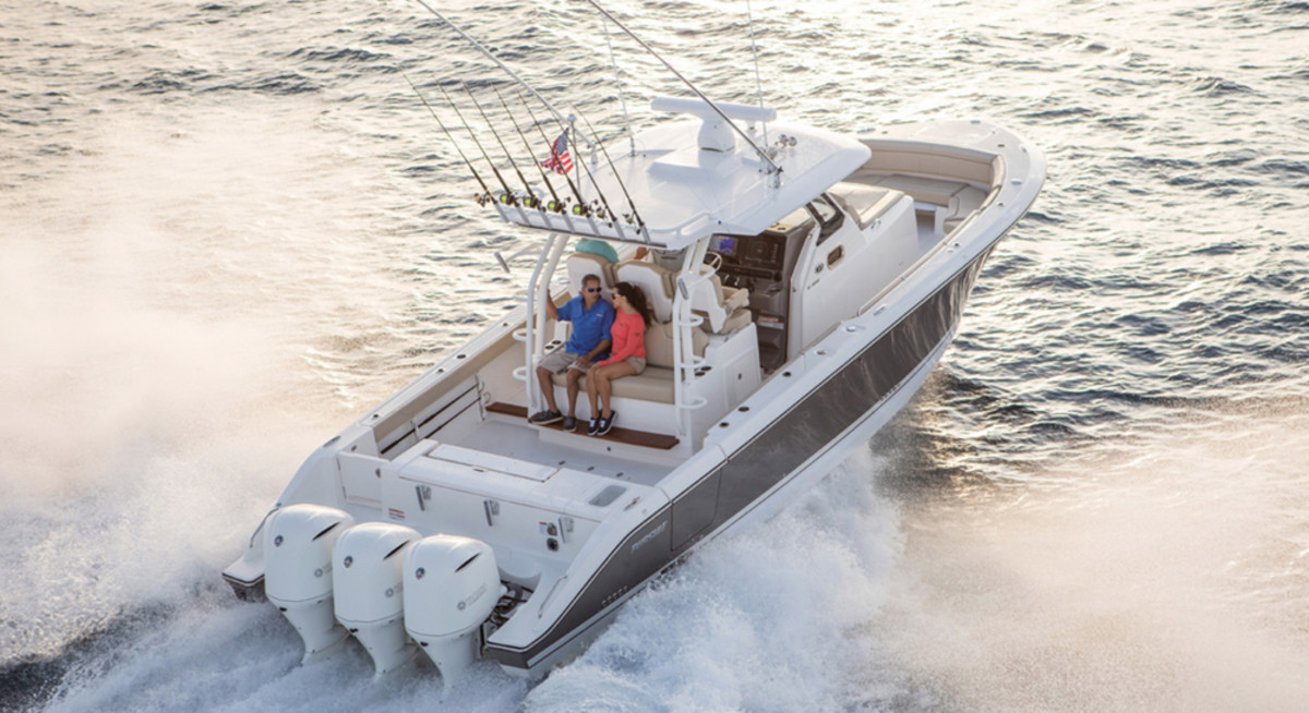 Pursuit's new S 368 joins the builder's Sport family, which includes the S 408 and S 328 models.