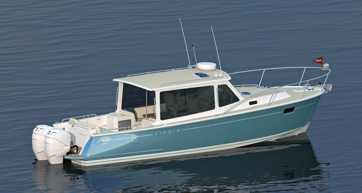 The new MJM 35z combines the comfort and luxury the manufacturer is known for with the enhanced versatility and performance that come with twin outboards.