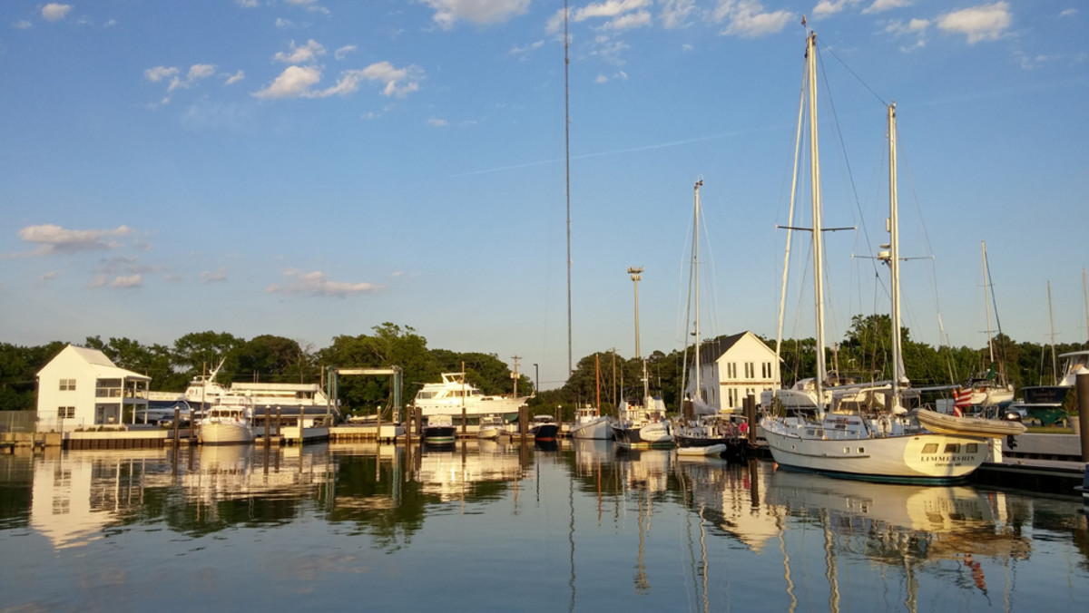 Cape Charles Yacht Center is just inside the mouth of Chesapeake Bay.