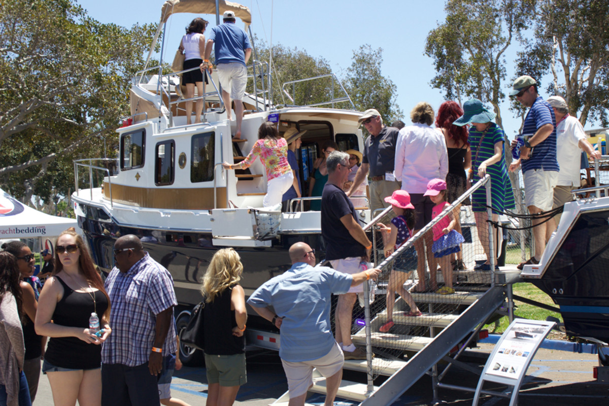 The San Diego show will feature vessels that include motoryachts, sailboats, runabouts, cruisers, pontoon boats and luxury superyachts.