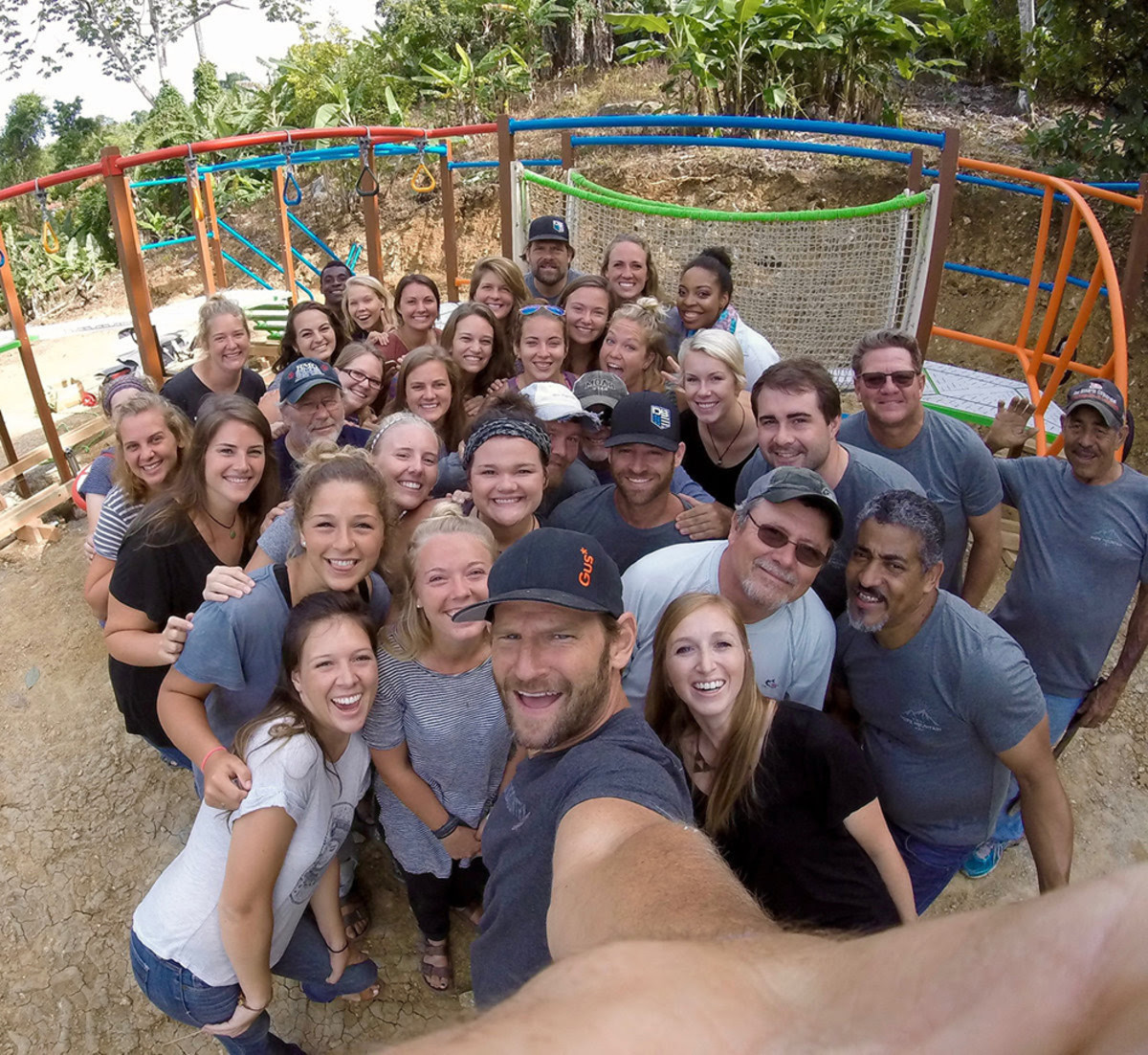 Nautique employees helped construct a playground at a mission camp in the Dominican Republic.