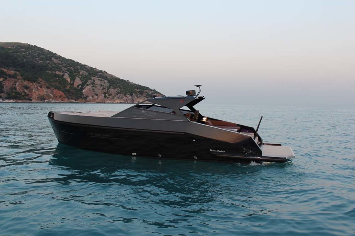 "The Mazu 38 Soft Top was designed by Halit Yukay and was sold to a client who wanted a ""military look"" and superyacht tender features."